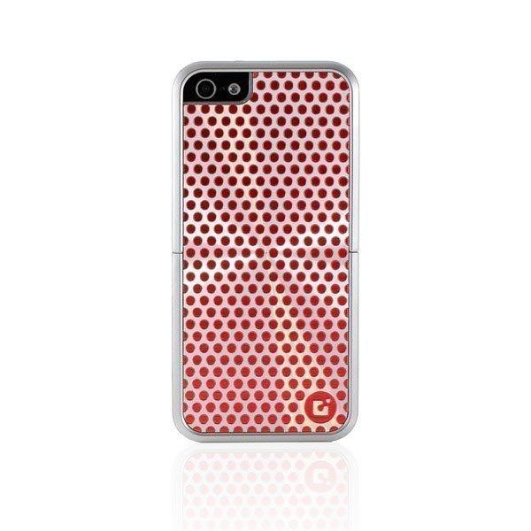 CDN Laminati muovisuojus metallimainen punapilk. kuvio iPhone 5