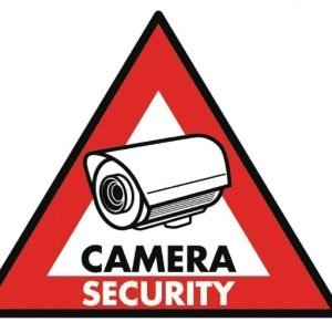 Camera security -tarra 123 x 148 mm