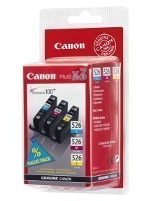 Canon CLI-526 C/M/Y ink cartridges
