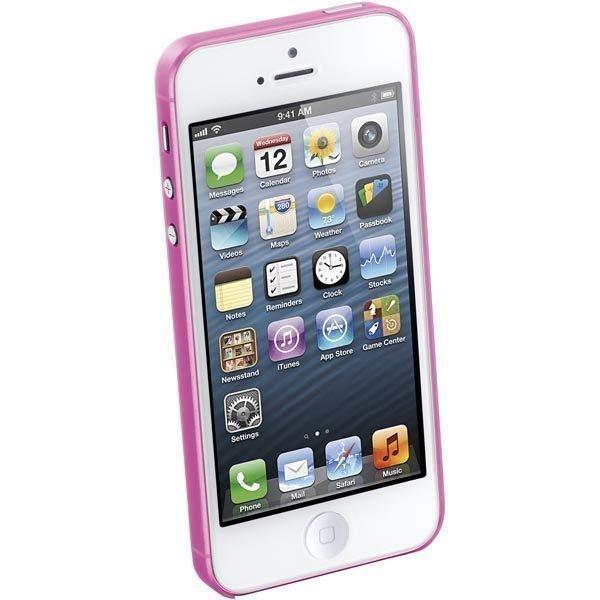 CellularLine 035 Ultra slim ultraohut muovisuojus iPhone 5 vaal.pun