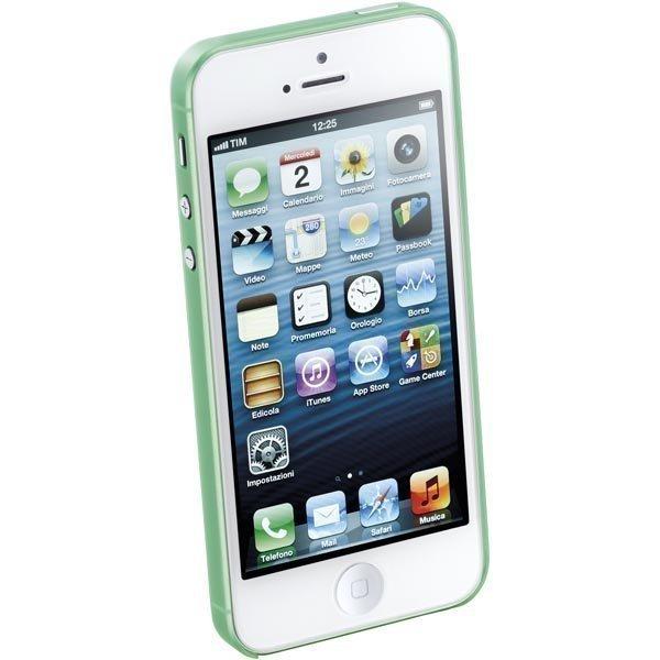 CellularLine 035 Ultra slim ultraohut muovisuojus iPhone 5 vihreä