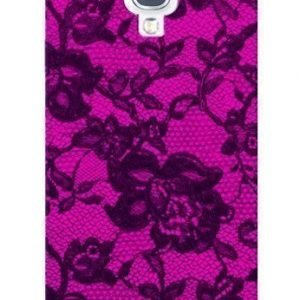 Celly Glamme Lace Case for iPhone 5 Fuschia