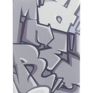 Celly Graffiti Letters Case for iPhone 4S Grey