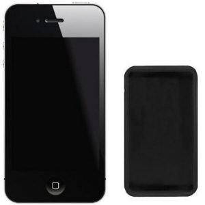 Celly Silicone Case for iPhone 4 Black