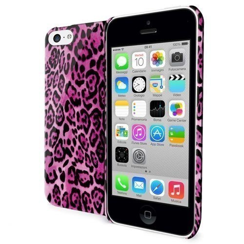 Celly TPU Case Leopard for iPhone 5c Pink