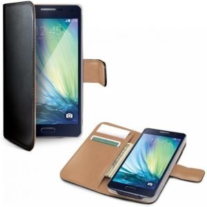 Celly Wallet Case Galaxy A3 Musta / Beige