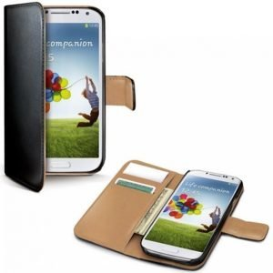 Celly Wallet Case Galaxy S4 Musta / Beige