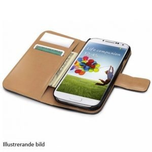 Celly Wallet Case Galaxy S5 Musta / Beige Wally390