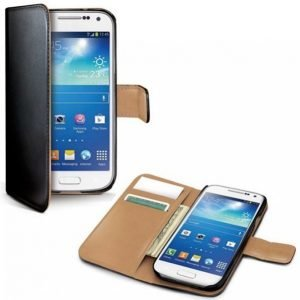 Celly Wallet Case S4 Mini Musta / Beige