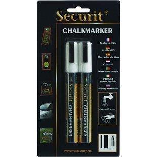 Chalk Marker liituhuopakynä 2-6 mm 2kpl valkoinen