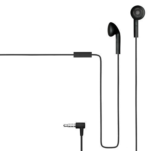 Champion HSZ100 Rubberized Earbuds with Mic1 Black