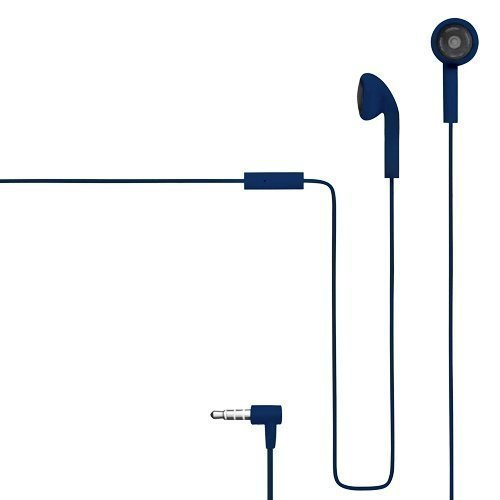 Champion HSZ100 Rubberized Earbuds with Mic1 Blue