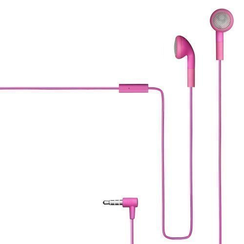Champion HSZ100 Rubberized Earbuds with Mic1 Pink