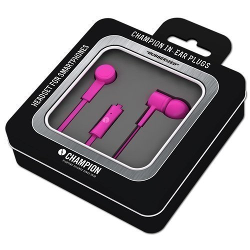 Champion HSZ200 Rubberized In-Ear with Mic1 Pink