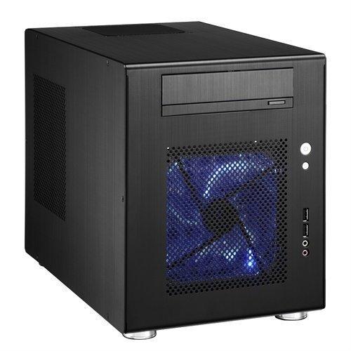 Chassi-Mini-ITX Lian Li PC-Q08B svart alu mini-ITX kabinett/ej PSU