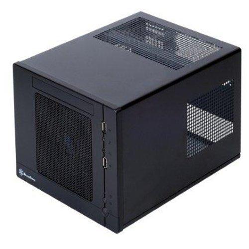 Chassi-Mini-ITX Silverstone Sugo SG05B Mini-ITX-kabinett svart 300W nätagg