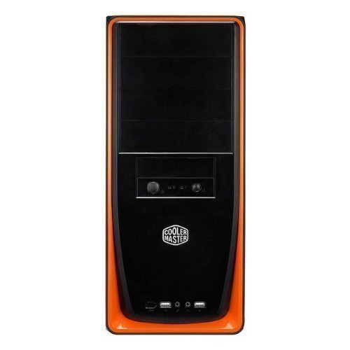 Chassi-Tower Cooler Master Elite 310 Mid Tower Chassis Orange and Black WO/PSU