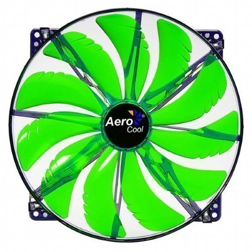 Cooling-Fan Aerocool Silent Master Green LED 200mm