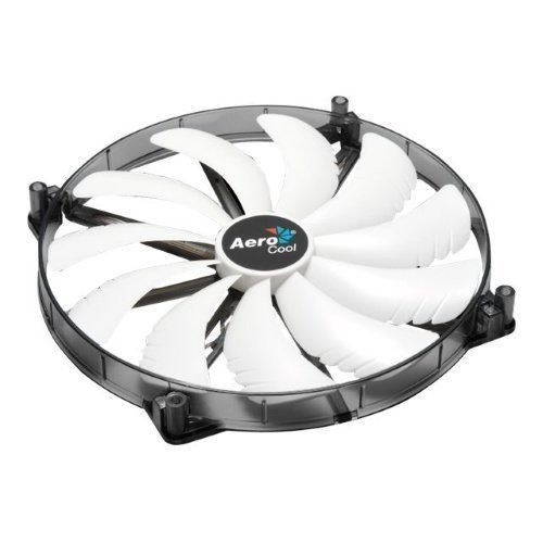 Cooling-Fan Aerocool Silent Master White LED 200mm