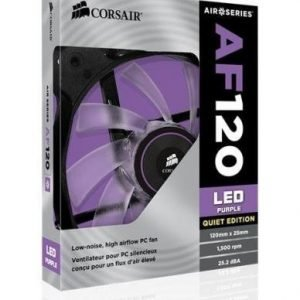 Cooling-Fan Corsair AF120 Quiet Edition Purple LED Fan Single Pack