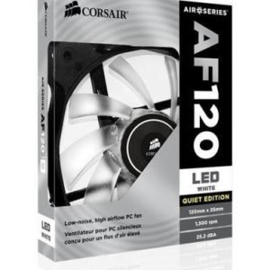 Cooling-Fan Corsair AF120 Quiet Edition White LED Fan Single Pack