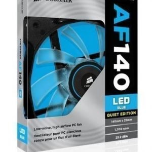 Cooling-Fan Corsair AF140 Quiet Edition Blue LED Fan Single Pack