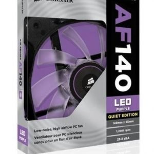 Cooling-Fan Corsair AF140 Quiet Edition Purple LED Fan Single Pack