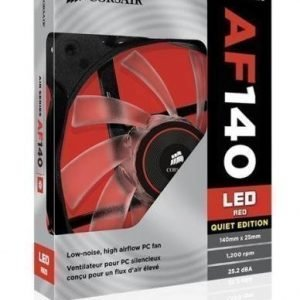 Cooling-Fan Corsair AF140 Quiet Edition Red LED Fan Single Pack