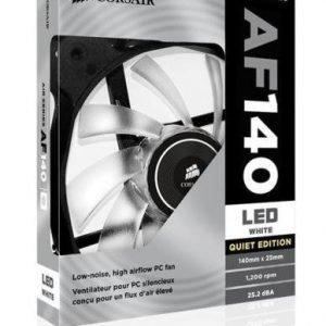 Cooling-Fan Corsair AF140 Quiet Edition White LED Fan Single Pack