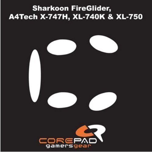 Corepad Mouse feet for Sharkoon FireGlider / A4Tech XL-740K XL-750 X-747H