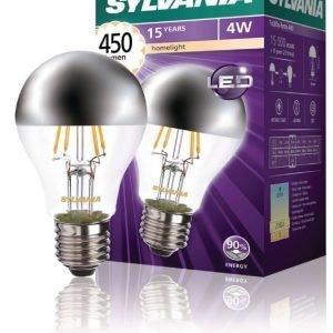 Crown Silver 450LM 827 LED-lamppu hehkulanka E27 4W
