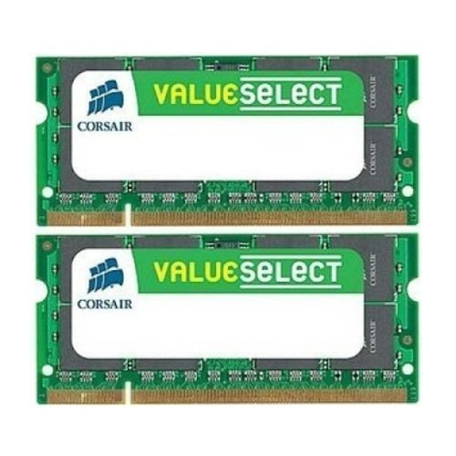 DDR2-DIMM-800 Corsair 4GB (KIT) DDR2 SO-DIMM/800MHz/CL5/6400 Value Select (2GBx2)