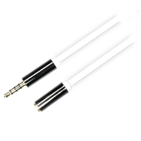 DELTACO äänikaapeli 3 5mm ur - 3 5mm na 4-pin 1m valk