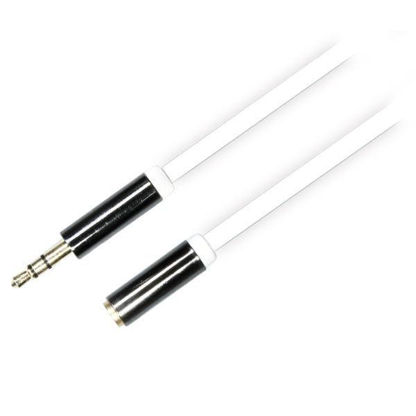 DELTACO äänikaapeli 3 5mm uros - 3 5mm naaras 0 5m valkoinen