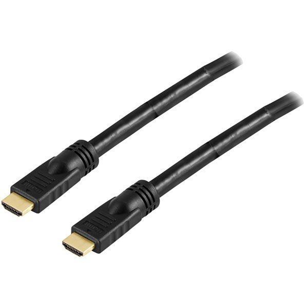 DELTACO HDMI-kaapeli aktiivinen 15m uros-uros 1080p 4K v1.4