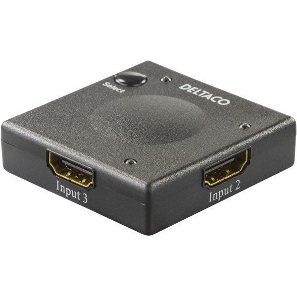 DELTACO HDMI-kytkin automaattinen3 > 1 1080p 3D musta