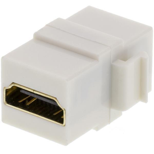 DELTACO HDMI liitin keystone-asennuksiin 19-pin na-na valkoinen