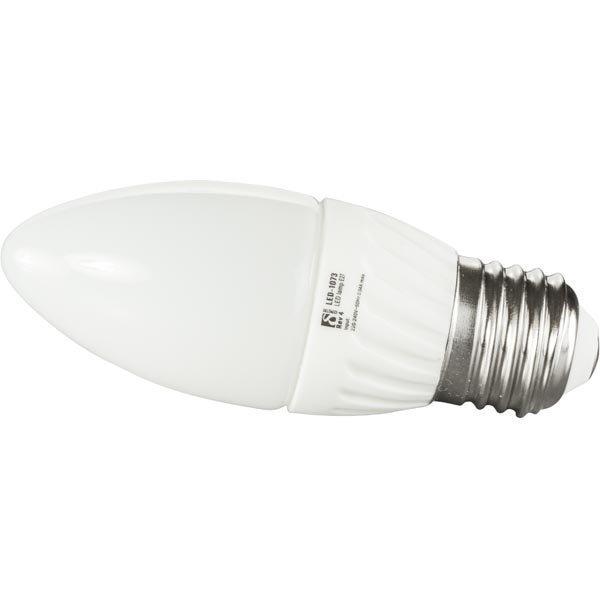 DELTACO LED-lamppu 3W 190lm E27 C37-kruunu 240V 2600-2800K