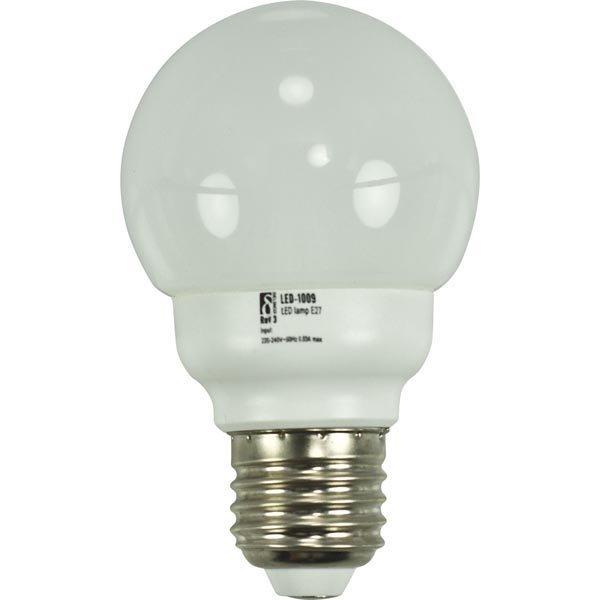 DELTACO LED-lamppu E27 lämpimänvalkoinen valo 2 2W pallo