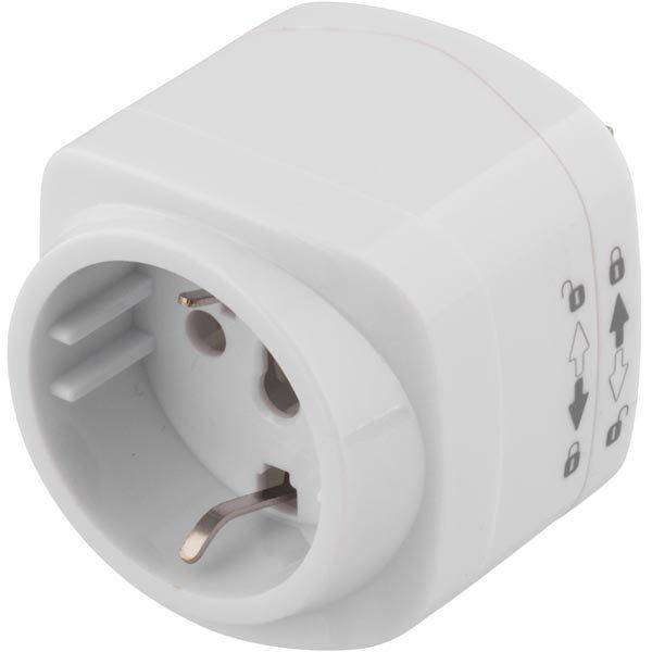 DELTACO Matka-adapteri EU - US pistokkeisiin maad. valkoinen