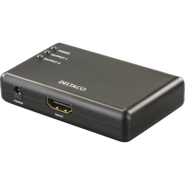 DELTACO PRIME HDMI-jakaja jossa 2 porttia 1080p 3D musta