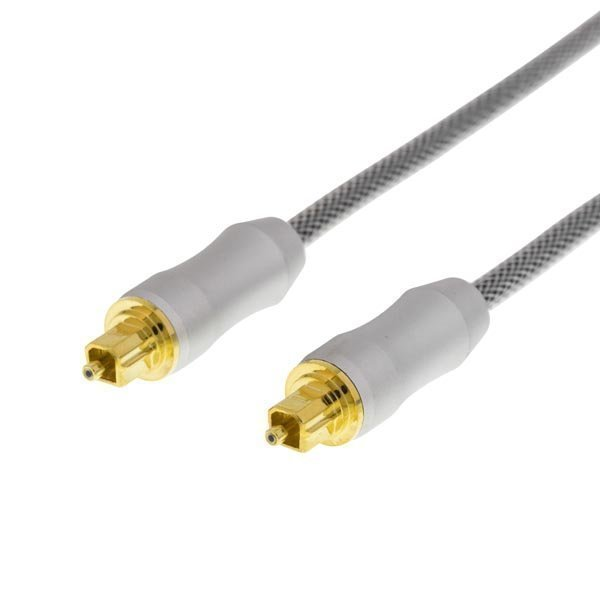 DELTACO PRIME High End Toslink Cable optinen kaapeli digitaaliselle äänelle Toslink - Toslink kullatut liittimet synteettinen kuitu tekee johdosta erittäin taipuisan 5m harmaa
