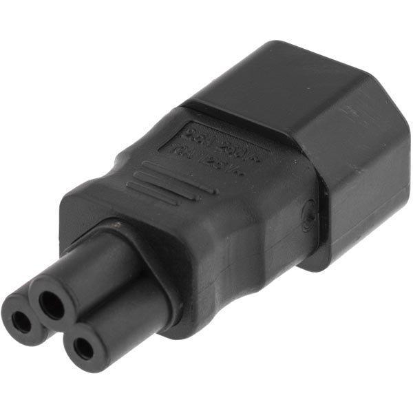 DELTACO Virtasovitin IEC 60320 C14 - IEC 60320 C5 250V/2 5A musta