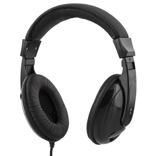 DELTACO kuulokkeet suljettu äänensäätö 2 5m kaapeli musta