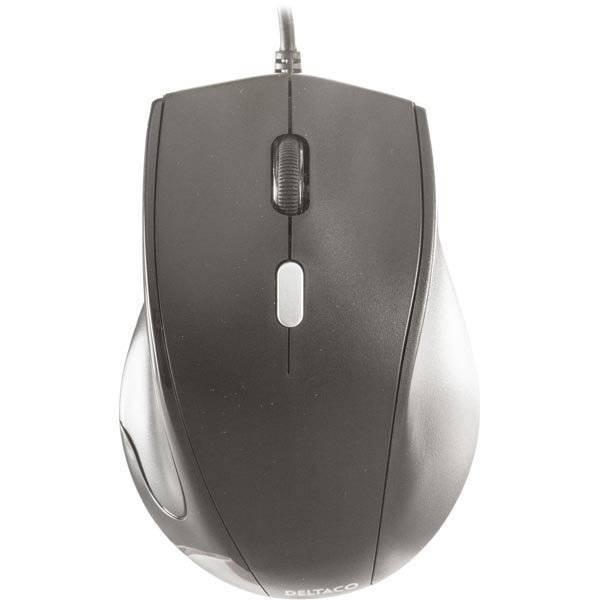 DELTACO optinen hiiri 3 painiketta rulla USB musta