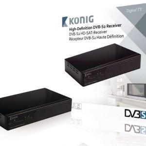DVB-S2-teräväpiirtovastaanotin 1080p
