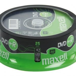 DVD+R 4.7 Gb 16x 25 osainen spindle