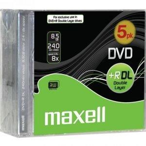 DVD+R 8.5 Gb Dual Layer 5 osainen kova kotelo