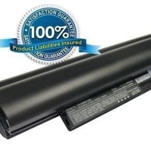 Dell Inspiron Mini 12 Inspiron 1210 akku 6600 mAh - Musta