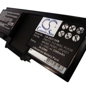 Dell Latitude XT latitude XT2 akku 3600mAh / 39.96Wh mAh - Musta